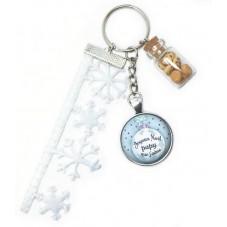 """Porte-Clé """"Joyeux Noël Papy que J'aime"""" Cadeau de Noël Original"""