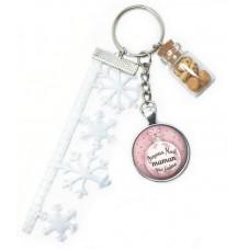 "Porte-Clé ""Joyeux Noël Maman que J'aime"" Cadeau de Noël Original"