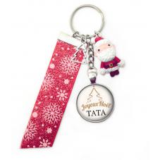 "Porte-Clé ""Joyeux Noël Tata"" Cadeau de Noël Original"