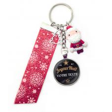 """Porte-Clé """"Joyeux Noël VOTRE TEXTE"""" Cadeau de Noël Original"""