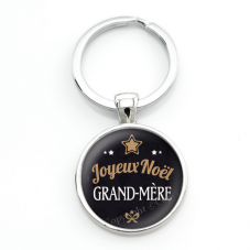 "Porte-clé ""Joyeux Noël Grand-Mère"" Cadeau de Noël Original"