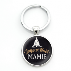 "Porte-clé ""Joyeux Noël Mamie"" Cadeau de Noël Original"
