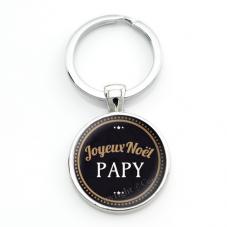 """Porte-clé """"Joyeux Noël Papy"""" Cadeau de Noël Original"""