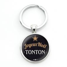 "Porte-clé ""Joyeux Noël Tonton"" Cadeau de Noël Original"