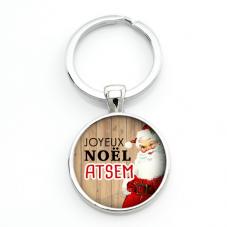 "Porte-clé ""Joyeux Noël Atsem"" Cadeau de Noël Original"