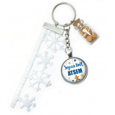 "Porte-Clé ""Joyeux Noël mon Atsem"" Cadeau de Noël Original"
