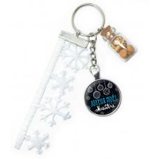 "Porte-clé ""Joyeux Noël Maître"" Cadeau de Noël Original"