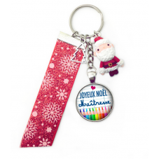 "Porte-Clé ""Joyeux Noël Maîtresse"" Cadeau de Noël Original"