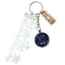 "Porte-clé ""Joyeux Noël  Marraine"" Cadeau de Noël Original"