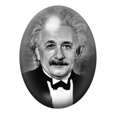 Cabochon en Verre Illustré Albert Einstein Physicien 13x18, 18x25 ou 30x40mm pour la Création de Bijoux Fantaisie - DIY