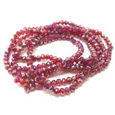 145 Perles à Facettes Rouge Grenat en Verre 4mm pour la Création de Bijoux Fantaisie - DIY
