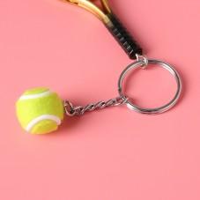Porte-Clé Raquette et balle de Tennis Sport 12cm Idée Cadeau