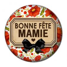 """Cabochon en Résine à Coller """"Bonne Fête Mamie"""" 25mm pour la Création de Bijoux Fantaisie - DIY"""