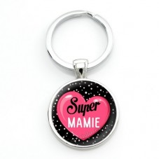 """Porte-clé """"Super Mamie"""" Cadeau Fête des Grands-Mères"""