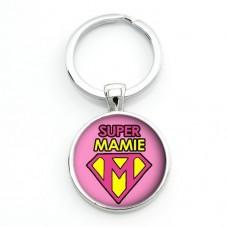 """Porte-clé """"Super Mamie"""" Cadeau Fête des Grands-Mères Anniversaire Noël"""