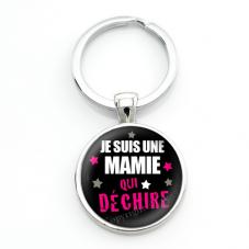 """Porte-clé """"Je suis une Mamie qui Déchire"""" Cadeau Fête des Grands-Mères"""