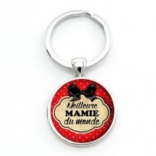 """Porte-clé """"Meilleure Mamie du Monde"""" Cadeau Fête des Grands-Mères Anniversaire Noël"""