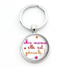 """Porte-clé """"Ma Mamie elle est trop Géniale"""" Cadeau Fête des Grands-Mères"""