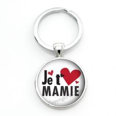 """Porte-clé """"Je t'aime Mamie"""" Cadeau Fête des Grands-Mères"""
