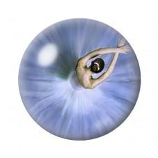 Cabochon en Verre Illustré Ballerine Danseuse Étoile 12 à 25mm pour la Création de Bijoux Fantaisie - DIY