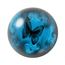 Cabochon en Verre Illustré Papillon 12 à 25mm pour la Création de Bijoux Fantaisie - DIY