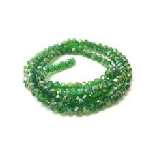 145 Perles à Facettes Vert en Verre 4mm pour la Création de Bijoux Fantaisie - DIY