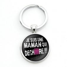 """Porte-clé  """"Maman qui déchire"""" Cadeau Maman Fête des Mères"""
