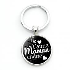 """Porte-clé """"Je t'aime Maman"""" Cadeau Maman Fête des Mères"""