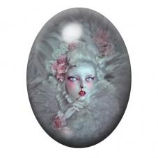 Cabochon en Verre Illustré Marquise Gothique 13x18, 18x25 ou 30x40mm pour la Création de Bijoux Fantaisie - DIY