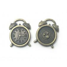5 Breloques Réveil Horloge Bronze 10mm pour la Création de Bijoux Fantaisie - DIY