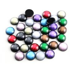 10 Cabochons en Résine Effet Nacré Soit 5 Paires 12mm pour la Création de Bijoux Fantaisie - DIY