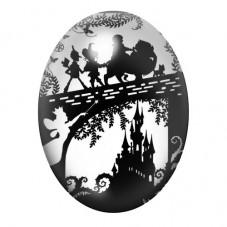 Cabochon en Verre Illustré Le Magicien d'Oz 30x40mm
