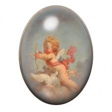 Cabochon en Verre Illustré Ange Peinture 30x40mm