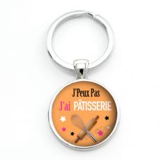 """Porte-clé """"J'peux pas j'ai Pâtisserie"""" Cadeau Original Humour Anniversaire Noël"""