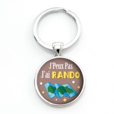 """Porte-clé """"J'peux pas j'ai Rando"""" Cadeau Original Humour Anniversaire Noël"""
