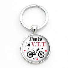 """Porte-clé """"J'peux pas j'ai V.T.T"""" Cadeau Original Humour Anniversaire Noël"""