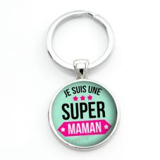 """Porte-clé """"Super Maman"""" Cadeau Fête des Mères"""