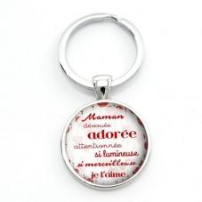 """Porte-clé """"Maman adorée"""" Cadeau Fête des Mères"""