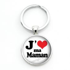 """Porte-clé """"J'aime Maman"""" Cadeau Fête des Mères"""