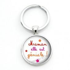 """Porte-clé """"Maman Géniale"""" Cadeau Fête des Mères"""
