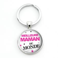 """Porte-clé """"Meilleure Maman du Monde"""" Cadeau Fête des Mères"""