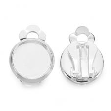 1 Paire de Support Clips d'Oreilles Enfant pour Cabochon 12mm pour la Création de Bijoux Fantaisie - DIY