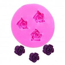 Moule en Silicone Roses Fleurs Fimo Résine Gâteau