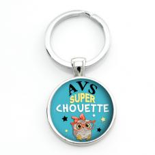 """Porte-clé """"AVS Super Chouette"""" Cadeau de Fin d'Année d'École"""