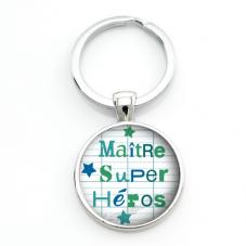 """Porte-Clé """"Maître Super Héros"""" Cadeau de Fin d'Année d'École"""