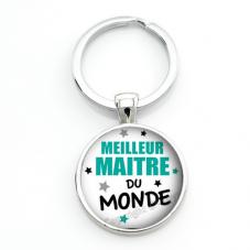 """Porte-Clé """"Meilleur Maître du Monde"""" Cadeau de Fin d'Année d'École"""