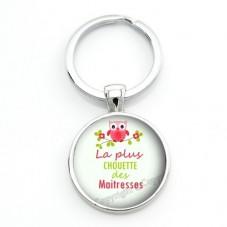 """Porte-clé """"Chouette Maîtresse"""" Cadeau de Fin d'Année d'École"""