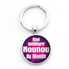 """Porte-clé """"Élue Meilleure Nounou"""" Cadeau de Fin d'Année d'École"""