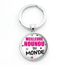 """Porte-clé """"Meilleure Nounou du Monde"""" Cadeau de Fin d'Année d'École"""