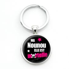 """Porte-clé """"Ma Nounou elle est Mortelle"""" Cadeau de Fin d'Année d'École"""